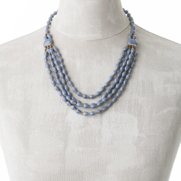 KALiARE-Kette Modell Aida in der Farbe Blau-Grau