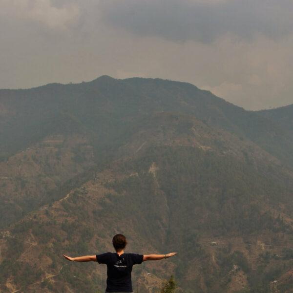 Ausblick vom Dorf Gaujini