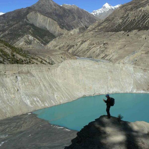 See mitten im Annapurnagebirge