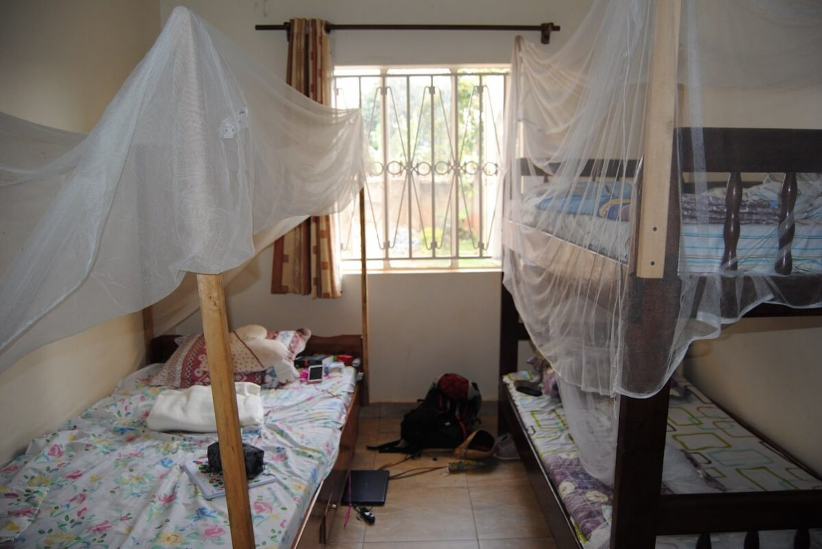 Schlafmöglichkeiten für Freiwillige im Volontärhaus in Kampala